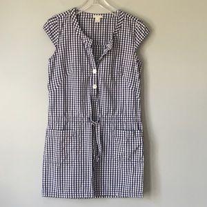 J. Crew | Gingham Drawstring Dress with Pockets